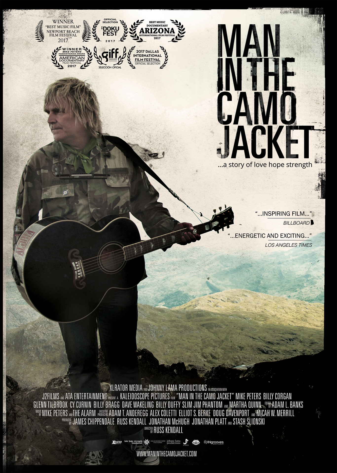 Man In The Camo Jacket - Official Poster